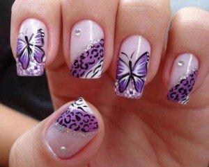 Papillons violets et fleurs blanches dans Nail art en général 1009826_10201574318536756_173274850_n-300x241
