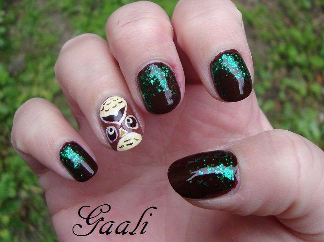 nail art hibou