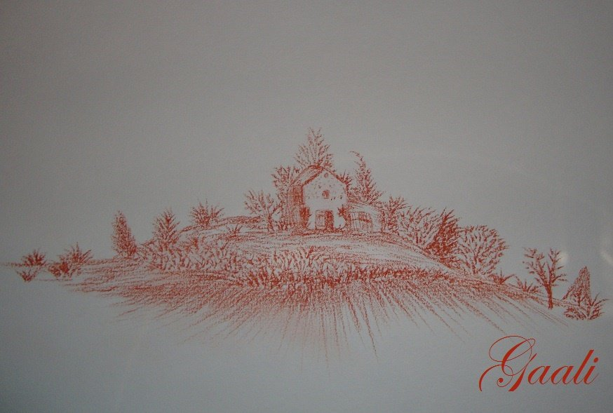 Dessin Paysage Sanguin Gaali S Passions