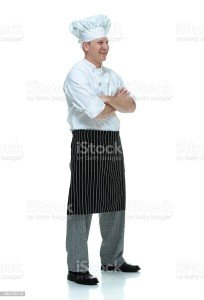 Smiling chef standing with arms crossedhttp://www.twodozendesign.info/i/1.png
